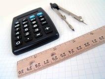 Rifornimenti matematici fotografie stock