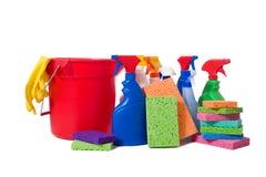 Rifornimenti Spring Cleaning Immagine Stock Libera da Diritti