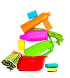 Rifornimenti Spring cleaning Fotografia Stock