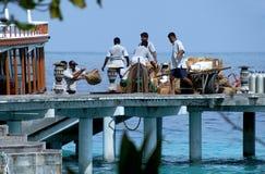 Rifornimento in Maldive Fotografia Stock