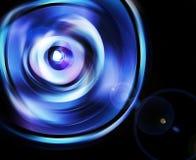 Rifrazione del fascio dalla lente Fotografia Stock Libera da Diritti