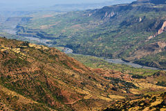 Rift valley landscape. Beautiful landscape of rift valley photographed in Ethiopia, near Debre Libanos Stock Images