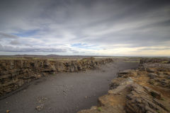 Rift Valley. The picture shows a rift valley in Iceland, which is caused by continental drift Stock Photo