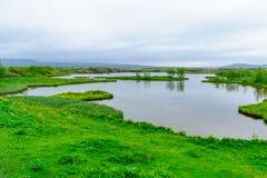 Rift Valley in Thingvellir Stockfotos