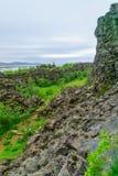 Rift valley in Thingvellir. Rift valley landscape, in Thingvellir National Park, Iceland Stock Image