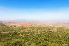 Rift Valley view. View of the Rift Valley in Kenya Stock Photos