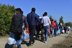 Rifugiati in Babska (serbo - confine di Croatina) Immagini Stock Libere da Diritti