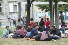 Rifugiati a Belgrado Immagini Stock Libere da Diritti