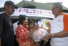 RIFUGIATI STAGIONALI INDONESIANI DELL'INONDAZIONE Immagine Stock Libera da Diritti