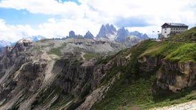 Rifugio Auronzo, Dolomity - Tre Cime di Lavaredo Lizenzfreie Stockfotos