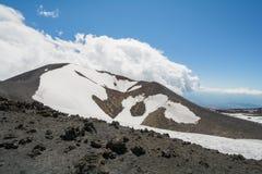 Rifugio del Etna在海平面上的1800 m 库存图片