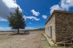 Rifugio dell'alta montagna fotografia stock