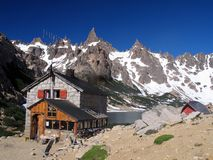 Rifugio della montagna Fotografia Stock