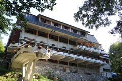 Rifugio della montagna di Città di Massa Situato nelle alpi di Apuan, è immagine stock libera da diritti