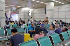 Rifugio della stazione ferroviaria di Guangzhou Immagini Stock