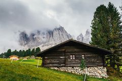 Rifugio delle odle, Alto Adige / South Tyrol, Italy.  royalty free stock photos