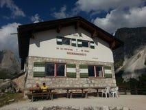 Rifugio Firenze in Puez Odle Natural Park, Dolomiti Stock Image