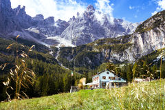 Rifugio Lunelli Stock Photo