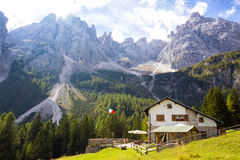 Rifugio Lunelli Royalty Free Stock Photos