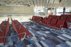 Rifugio nel portone dell'aeroporto all'aeroporto internazionale di Hong Kong Immagini Stock Libere da Diritti