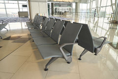 Rifugio nel portone dell'aeroporto all'aeroporto internazionale di Hong Kong Immagini Stock