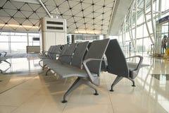 Rifugio nel portone dell'aeroporto all'aeroporto internazionale di Hong Kong Fotografia Stock Libera da Diritti