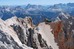 Rifugio San Lorenzo über vom ferrata Ivano Dibona Lizenzfreie Stockbilder