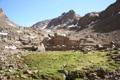Rifugio sulla traccia a Toubkal morocco Immagini Stock