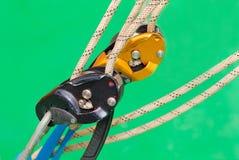 Rig descender. / self braking descender Royalty Free Stock Images