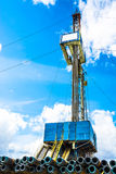 Rig for drilling oil and gas wells Stock Photography