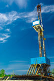 Rig for drilling oil and gas wells Stock Photos