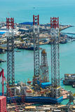 Rig Leaves Shipyard de forage Photo stock
