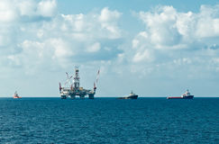 Rig move. Preparation for rig move operation in southern Mediterranean Royalty Free Stock Image