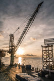 Rig platform of oil and gas industry Royalty Free Stock Photography