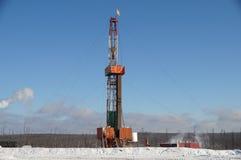 Rig. Russia. Siberia Winter Mobile drilling rig Stock Photo