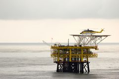 Rig in the South China Sea Royalty Free Stock Images