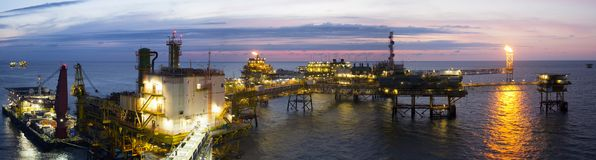 Rig in the South China Sea Stock Photography