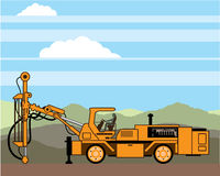 Rig Tractor Vehicle Machinery de forage Photos libres de droits