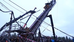 Rig stock video footage