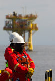 Rig workers Stock Photography