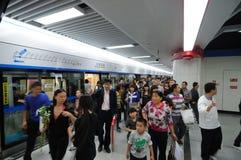 Riga 1 della metropolitana di Chengdu Immagine Stock