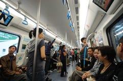 Riga 1 della metropolitana di Chengdu Fotografia Stock Libera da Diritti
