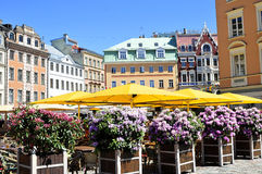 Riga. A view of the typical architecture in Riga Lettonia Stock Image