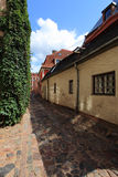Riga. Houses and street in old Riga, Latvia Stock Images