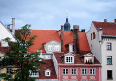 Riga. Houses in old Riga, Latvia Royalty Free Stock Photo