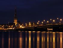Riga. By night Royalty Free Stock Images