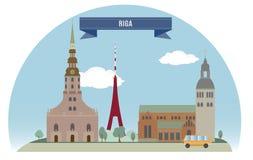 Riga illustrazione di stock