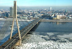 Riga. The bridge in Riga Royalty Free Stock Image