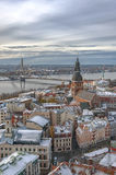 Riga Aerial View of Old Town Stock Photography