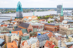 Riga aerial view Royalty Free Stock Photography